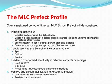 application letter for prefect in a school prefectship presentation march 2013