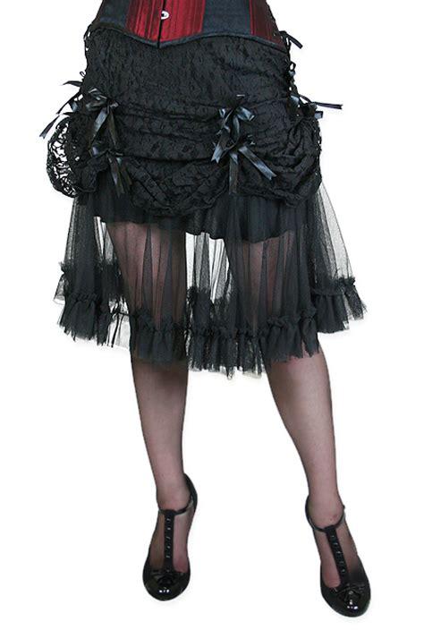 Vanity Skirts by Vanity Lace Skirt Black