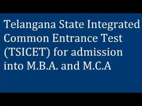 Manchester Admissions Test Mba by Telangana State Icet 2015 Entrance For Mba Mca