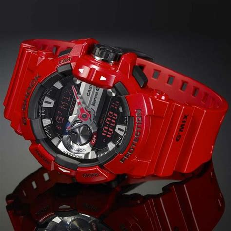 Casio G Shock Gba 400 Gmix Merah casio g shock g mix app bluetooth smart gba 400 4ajf watchain