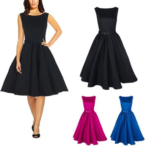 sixties swing dresses sexy women 50s 60s retro sleeveless cocktail prom gown
