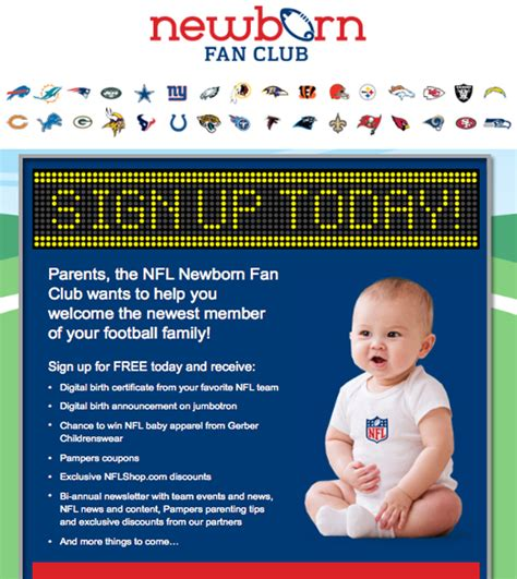 nfl newborn fan brandchannel pers delivers healthy growth with