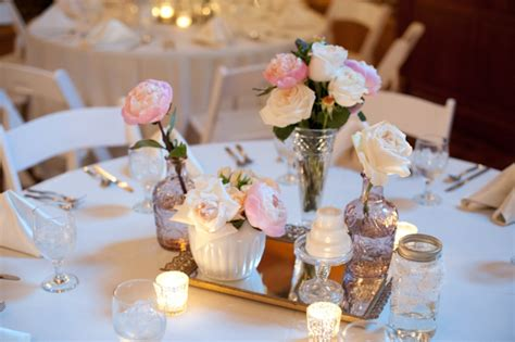 Orange And Pink Table Decorations Vintage Weddings Every Last Detail