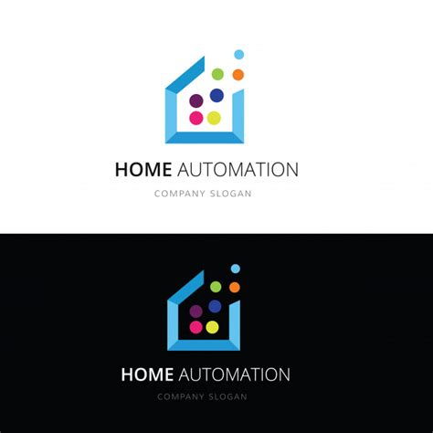 Smart Home Logo Home And House Technology Logo Vector Logo Template Vector Premium Download Home Automation Website Templates