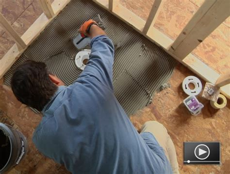 how to install bathroom tile floor how to install a tileable shower base buildipedia