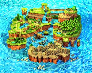 Super Mario World Maps by Dayshot Low Polygon Super Mario World Map Kotaku Australia