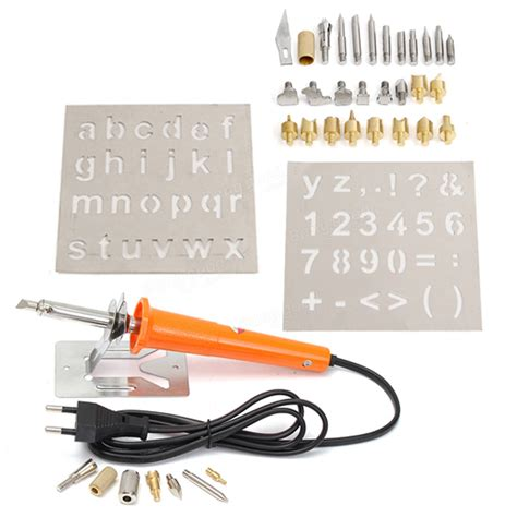 37pcs 110v Wood Burning Pen With Extra Tips And Stencils