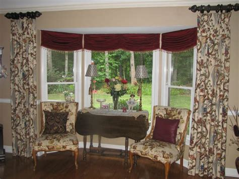 window treatments for bay windows in dining room dining room bay window treatment ideas