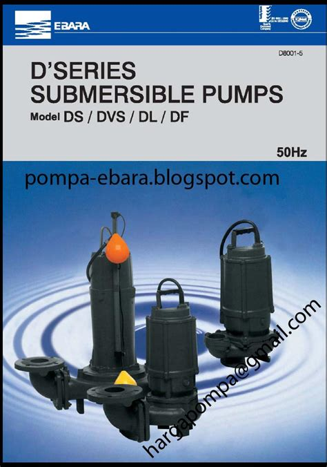 Pompa Celup 100 Meter jual pompa ebara 65 ds 51 5 submersible 500ltr menit