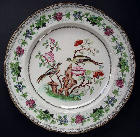 plate patterns minton staffordshire rare ironstone pottery chinoiserie