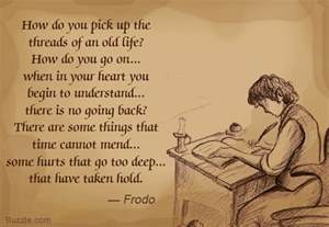 Quote by frodo from the last movie of the lord of the rings series