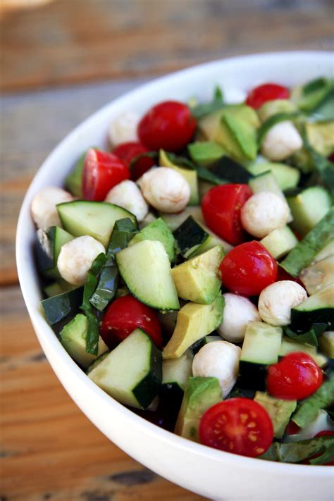 Glaze Avocado Keyz And recipe for cucumber avocado caprese salad popsugar fitness