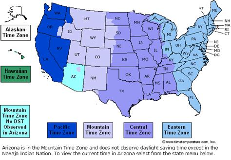 map of time zones in united states teachers classroom pages