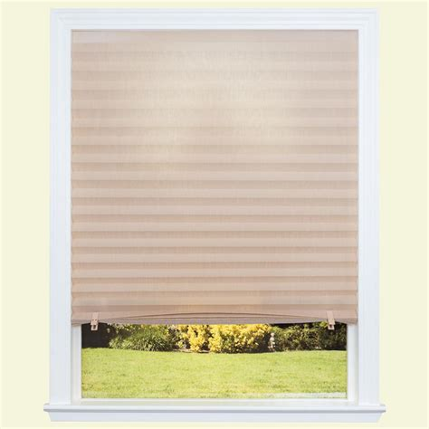 redi shade fabric light filtering pleated shade