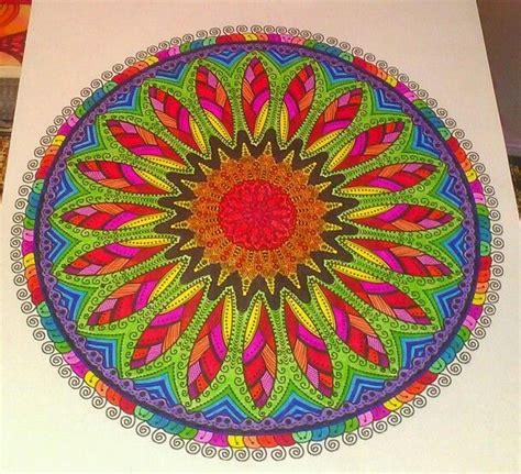 mandala coloring book markers mandalas colored markers coloring books finished