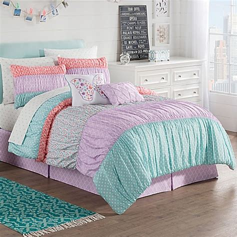 Comforter Sets Bed Bath And Beyond by Zoe Reversible Comforter Set In Purple Bed Bath Beyond