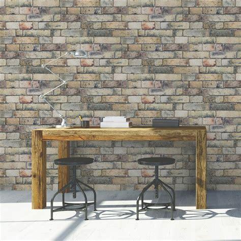 Tapisserie Brique by Papier Peint Intiss 233 Brique Anglaise Jaune Leroy Merlin