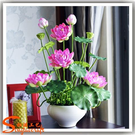 artificial lotus flower artificial lotus flower pot real touch decorative