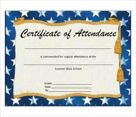 Attendance Award Certificate Templates by 6 Attendance Certificate Templates Free