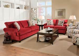 inverness red corded fabric living room set from furniture of america sm5047 sf coleman