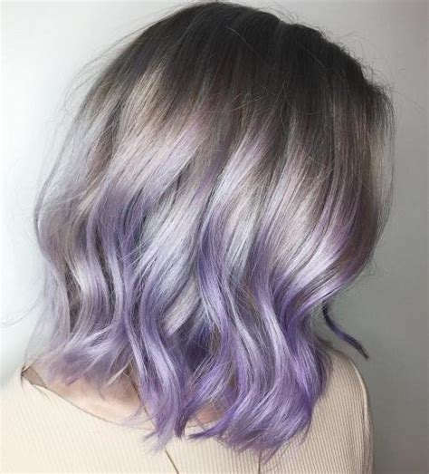 salt and pepper hair with lilac tips the prettiest pastel purple hair ideas