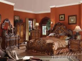 acme bedroom set dresden 6 bedroom set in cherry finish by acme 12140