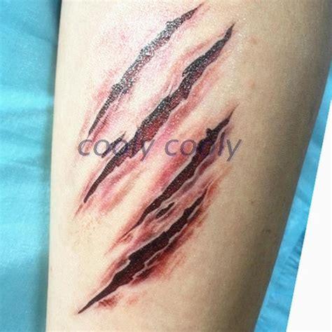 claw mark tattoo false wound scars tear claw marks joke