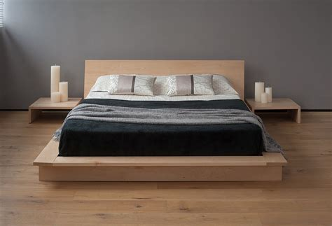 oregon  platform bed solid wood natural bed