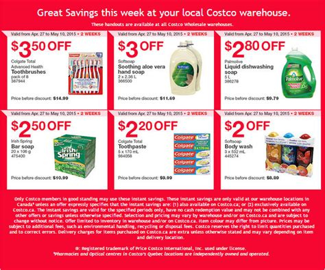 printable grocery coupons ottawa costco weekly handout instant savings coupons apr 27