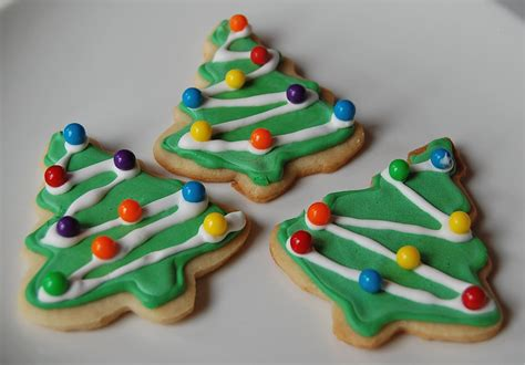 chef mommy christmas tree sugar cookies