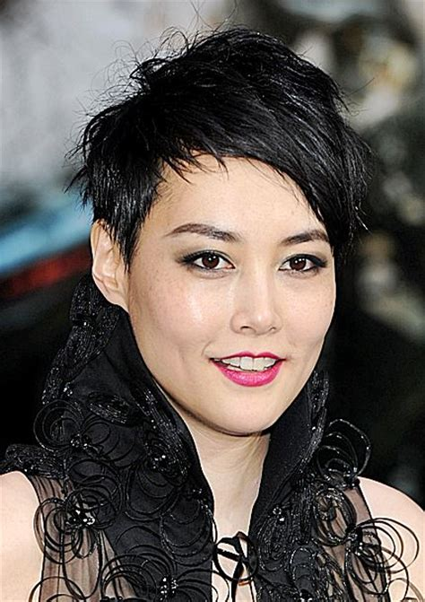 Rinko Kikuchi's Choppy Short Hairstyle   Casual, Party
