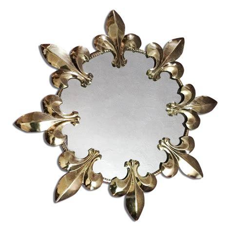 lys vintage vintage 1970s wall mirror sunburst fleur de lys by