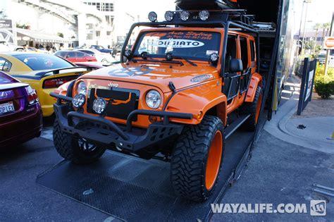 2012 sema forgiato orange 4 door jeep jk wrangler
