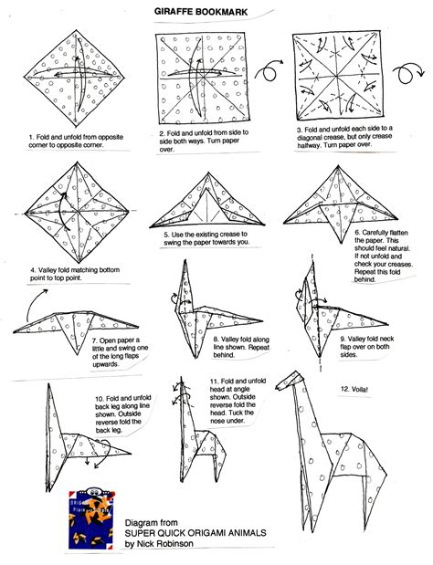 Origami Book Diagram - origami diagrams