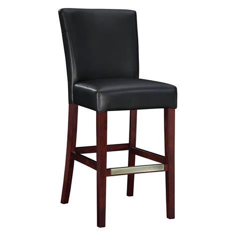 30 leather bar stools powell 30 in black bonded leather bar stool bar stools