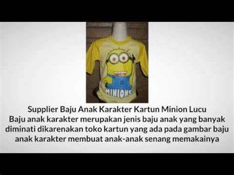Supplier Baju Cilling Out Hq 085759938680 supplier baju anak karakter kartun minion