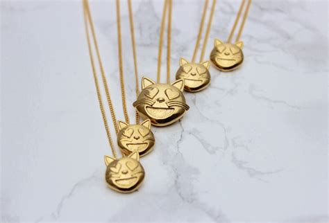 emoji jewelry cat emoji necklace kitty emoji jewelry kitty cat emoji