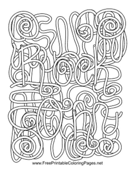 coloring pages with hidden words rock n roll hidden word coloring page
