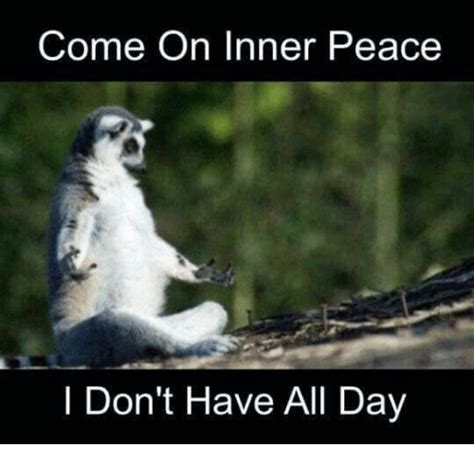 Inner Peace Meme - come on inner peace i don t have all day dank meme on sizzle