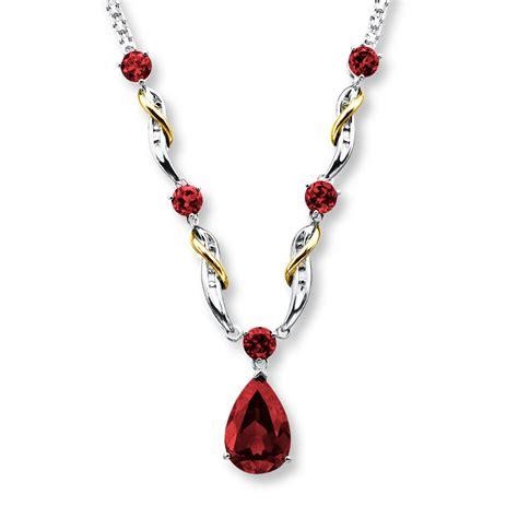 Garnet Necklace Sterling Silver garnet necklace sterling silver 10k gold