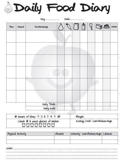 free printable food diary uk 11 free sle food log templates printable sles