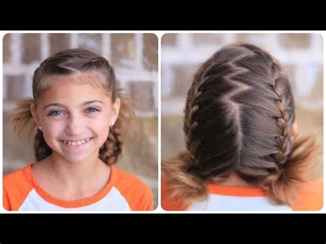 hairstyles for school games soccer french braids cute girls hairstyles youtube