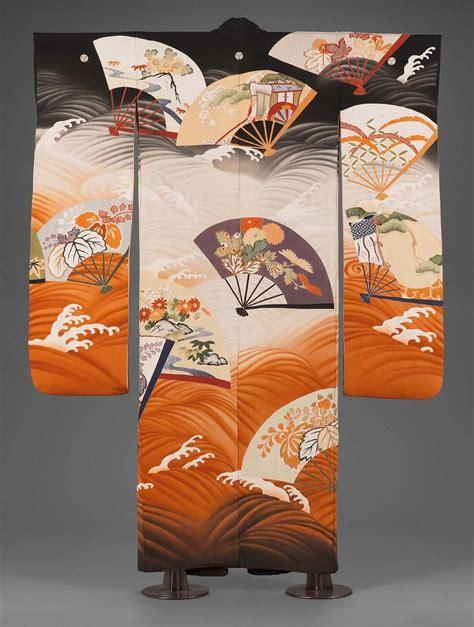 kimono pattern symbolism japanese furisode kimono late 1920 30s formal kimono for