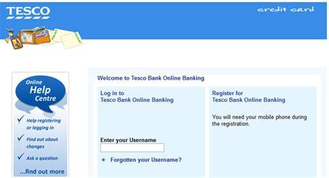 reset online banking tesco fake tesco credit card verification notifications used to