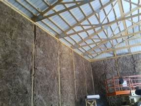 pole barn roof insulation insulating pole barn question construction contractor talk