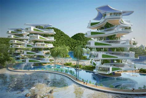 Eco Resorts vincent callebaut s visionary eco resort for the philippines features rotating energy generating