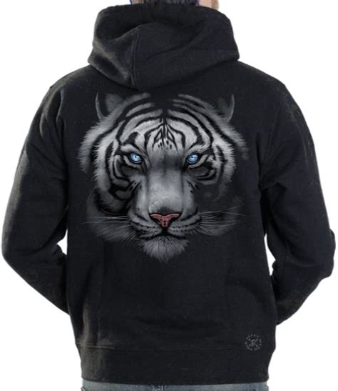 Tiger Hoodie white tiger hoodie sweat shirt back alley wear