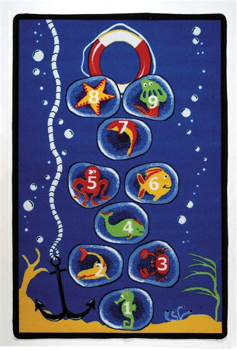 rtr rugs sea scotch play rug rectangle 36 quot x 52 quot lc162 learning carpets