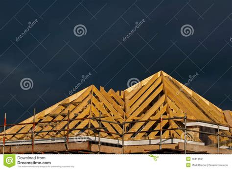 Pitched Roof Construction Detail Of Pitched Roof Construction Stock Image Image