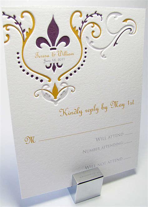 fleur de lis wedding invitation fleur de lis wedding invitation digby invitations dc